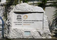 Каменная доска доски наследия ЮНЕСКО стоковое изображение
