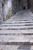 Каменная лестница в Таранте, Апулии, Италии Стоковое Изображение