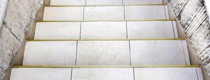 Каменная лестница снятая от верхней части Стоковые Фото