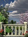 Каменная загородка с лозами Стоковое Фото
