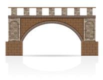 Каменная иллюстрация вектора запаса моста Стоковая Фотография