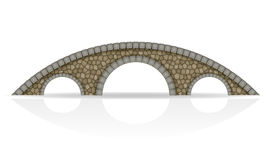 Каменная иллюстрация вектора запаса моста Стоковая Фотография RF