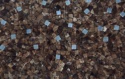 Каменная картина мозаики Стоковые Изображения