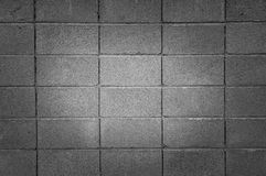 Каменная кирпичная стена в черно-белом, предпосылка Стоковые Изображения