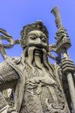Каменная китайская статуя солдата Стоковая Фотография RF
