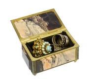 Каменная коробка для хранения ювелирных изделий Стоковое Изображение RF