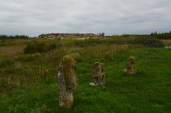Каменная могила около современного Melitopol Украина стоковые изображения rf