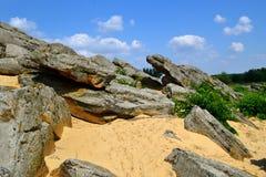 Каменная могила Стоковая Фотография