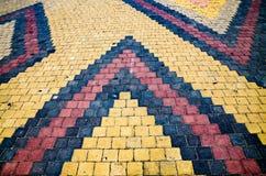 Каменная мостоваая дороги блока Стоковые Фото