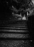 Каменная дорога к святому кресту стоковое фото rf