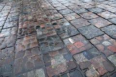 Каменная дорога после дождя Стоковое Изображение