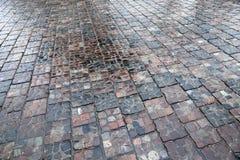 Каменная дорога после дождя Стоковая Фотография