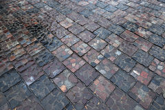 Каменная дорога после дождя Стоковые Фотографии RF