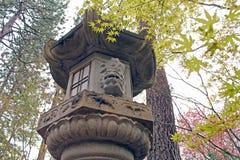 Каменная пагода японского фонарика Стоковые Изображения RF