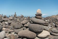 Каменная пирамида из камней Стоковое фото RF