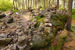 Каменная пирамида из камней Стоковое Изображение