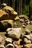 Каменная пирамида из камней Стоковое Изображение RF