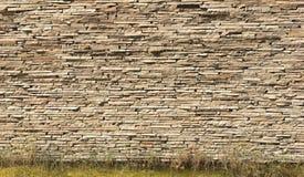 каменная пожелтетая стена Стоковое Фото