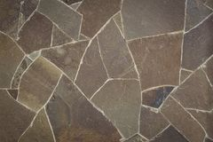 Каменная предпосылка, картина, текстура камней различных геометрических форм Стоковая Фотография