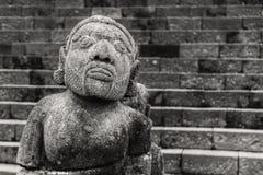 Каменная скульптура человека от виска Cetho, Jawa, Индонезии Стоковое Изображение