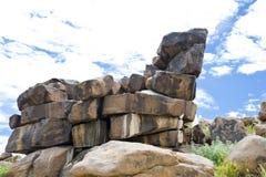 Каменная спортивная площадка Giants пустыни в Намибии Стоковые Изображения RF