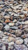 Каменная старая стена от огромных блоков Предпосылка камней концепция надежности Красивый текстурированный винтажный антиквариат Стоковое Фото