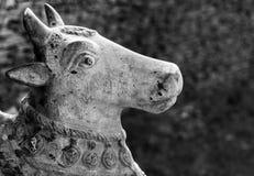 Каменная статуя коровы Стоковые Изображения RF