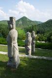 Каменная статуя на усыпальнице conmin короля Стоковая Фотография RF