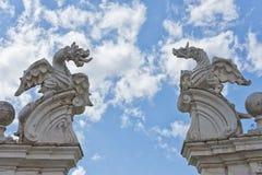Каменная статуя дракона Стоковые Изображения