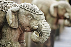 Каменная статуя слона Стоковая Фотография RF