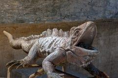 Каменная статуя ящерицы Стоковая Фотография RF