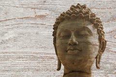 Каменная статуя ayutthaya ратника Будды Стоковые Изображения