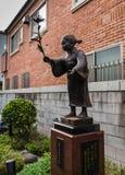 Каменная статуя Jizo в городке Kawagoe Стоковое Фото