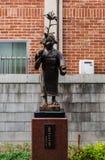 Каменная статуя Jizo в городке Kawagoe Стоковое Изображение RF