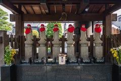 Каменная статуя Jizo в городке Kawagoe Стоковое Изображение