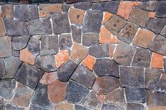Каменная стена дома стена текстуры кирпича предпосылки старая Стоковые Изображения RF