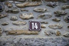 Каменная стена и 14 Стоковая Фотография