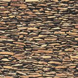 Каменная стена, коричневая текстура сброса с тенью Стоковая Фотография