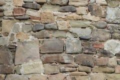 Каменная стена крепости стоковые фотографии rf