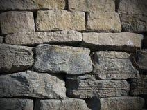 Каменная стена серая и золотая с темными краями Стоковое Изображение RF