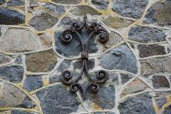 Каменная стена старой мельницы гранита трясет, старый masonry с мной Стоковое фото RF