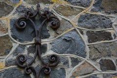 Каменная стена старой мельницы гранита трясет, старый masonry с мной Стоковое Изображение RF