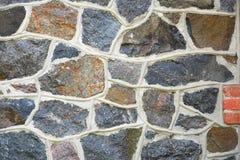 Каменная стена старой мельницы гранита трясет, старый masonry Textur Стоковое фото RF