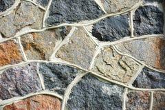 Каменная стена старой мельницы гранита трясет, старый masonry Textur Стоковое Изображение