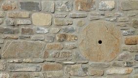 Каменная стена с абразивным диском Стоковое Фото