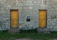 Каменная стена с металлической пластинкой Техаса Стоковые Изображения