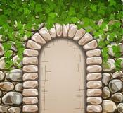 Каменная стена с средневековым сводом Стоковые Изображения RF
