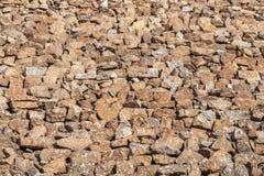 Каменная стена - текстура Стоковые Фотографии RF