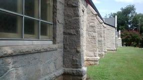 Каменная стена увядая в расстоянии Стоковые Фото