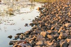 Каменная сторона реки стоковые изображения rf